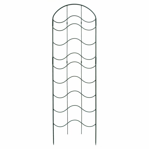 Waves Iron Arched Trellis by ACHLA