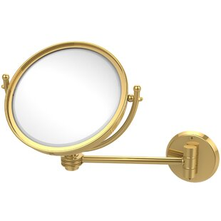 Wall Mounted Make-Up 5X Magnification Mirror with Dotted Detail ByAllied Brass