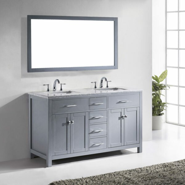 Kenilworth 59 Double Bathroom Vanity Set with Mirror by Highland Dunes