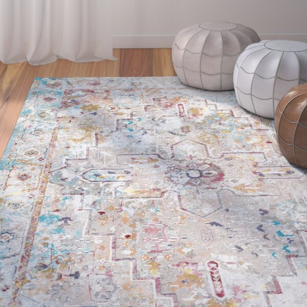 Chance Beige Area Rug by Bungalow Rose