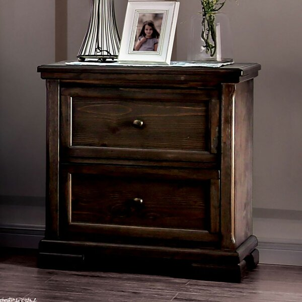 Bluxome 2 Drawer Nightstand by Canora Grey