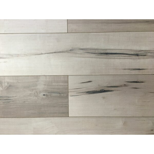 8 x 48 x 12mm Oak Laminate Flooring in French White by Yulf Design & Flooring
