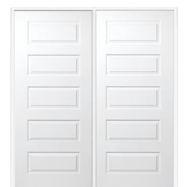 Rockport Primed Double MDF Panelled Prehung Interior Door by Verona Home Design