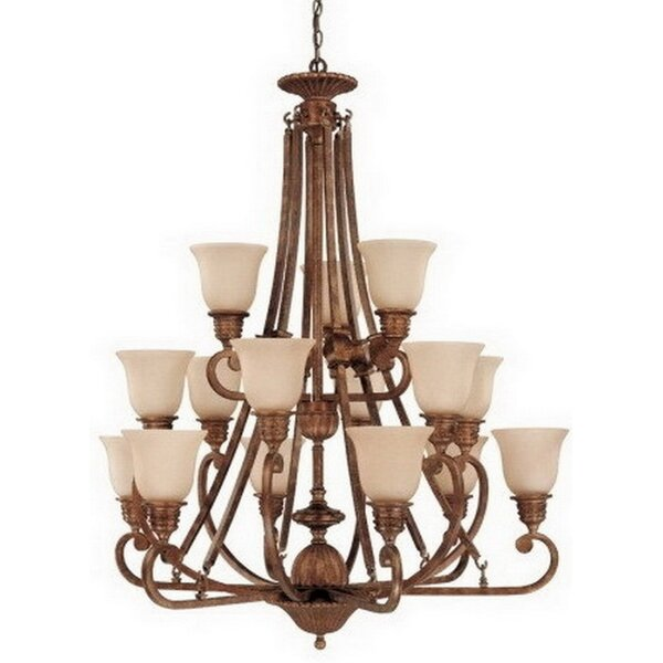 Howardwick 15-Light Shaded Chandelier by Fleur De Lis Living