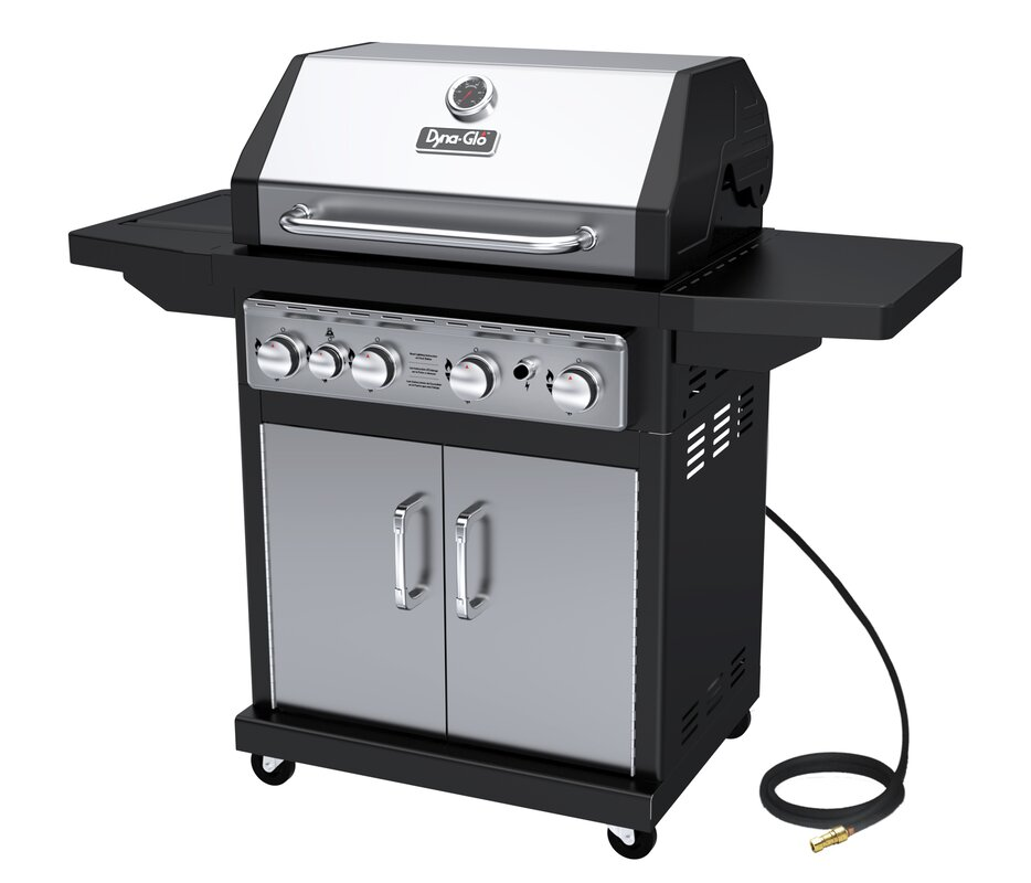 4 Burner Natural Gas Grill With Cabinet