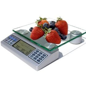 Nutriton Scale  with Digital Food and Nutrient Calculator in Silver by EatSmart