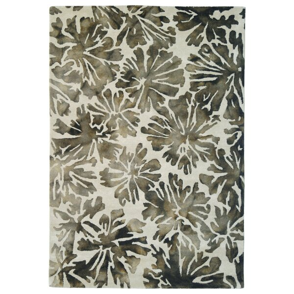 Wool Floral Hand-Tufted Gray/Charcoal Area Rug by Eastern Weavers