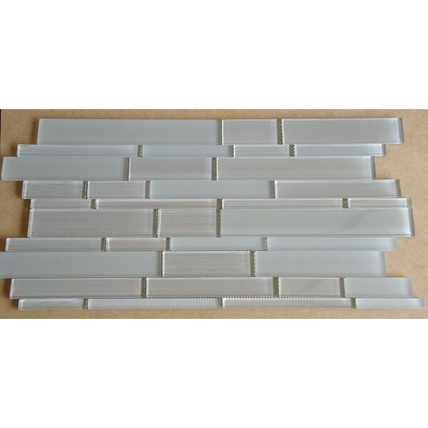 Studio Random Sized Glass Mosaic Tile in Taupe by Mulia Tile