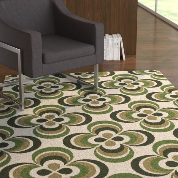 Mraz Olive Green/Moss Area Rug by Ebern Designs