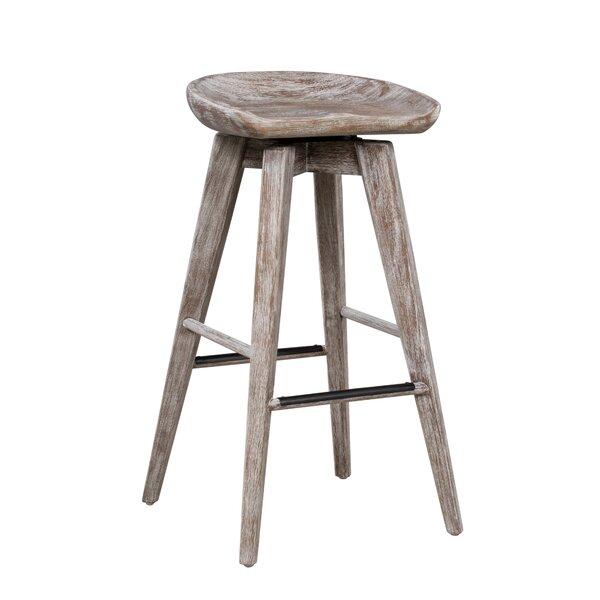 Manzer 30.75 Swivel Bar Stool by Gracie Oaks