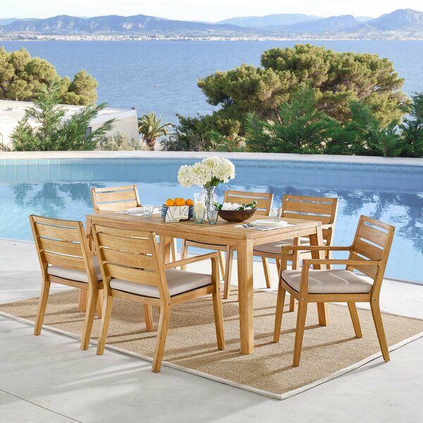 Daenerys 7 Pieces Dining  Set by Rosecliff Heights
