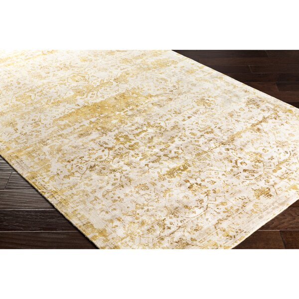 Dollie Hand-Loomed Yellow/Neutral Area Rug by Bungalow Rose