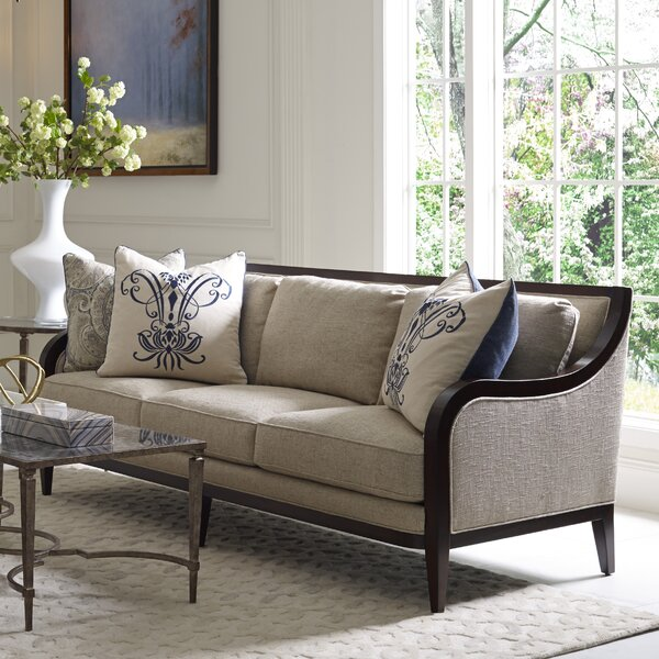 On Sale Marylhurst 3 Seat Linen Sofa by Canora Grey by Canora Grey