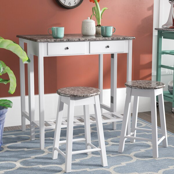 Cardwell Breakfast 3 Piece Dining Table Set by Winston Porter