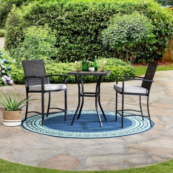Sunjoy 3 Piece Counter Height Bistro Set by Latitude Run