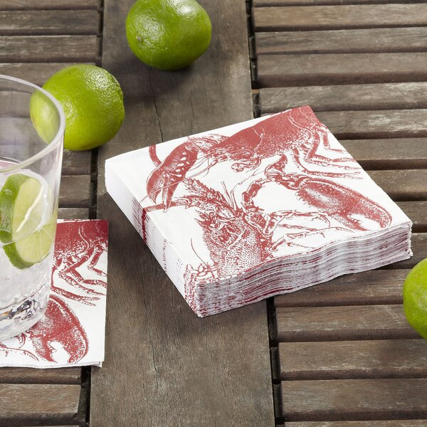 Lobster Cocktail Napkin (Set of 36) by Birch Lane™