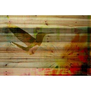 'Spring Hill' by Parvez Taj Painting Print on Natural Pine Wood by Parvez Taj