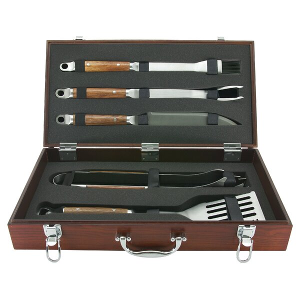 Rosewood Handle Forged Tool Set (Set of 5) by Mr. Bar-B-Q