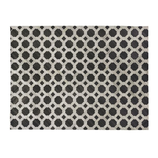 One-of-a-Kind Berlin Hand-Woven Charcoal/White Area Rug by Exquisite Rugs