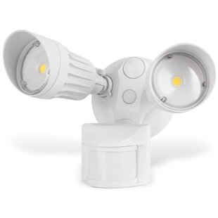 Lanza Security Waterproof 2-Light LED with Motion Sensor By Symple Stuff Outdoor Lighting