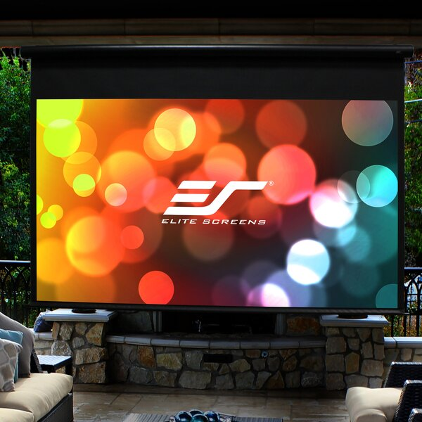 Yard Master Series Outdoor White Electric Projection Screen by Elite Screens