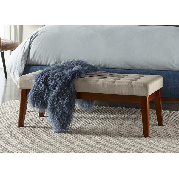 Claire Tufted Upholstered Bench By Elle Decor