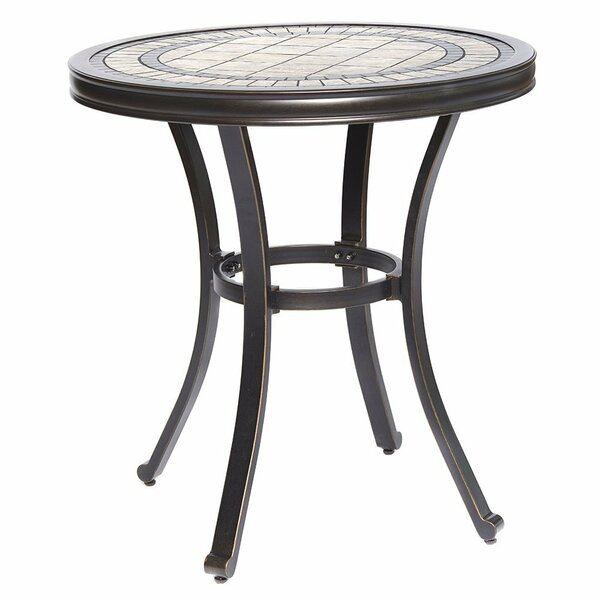 Glaser Handmade Aluminum Bistro Table by Fleur De Lis Living