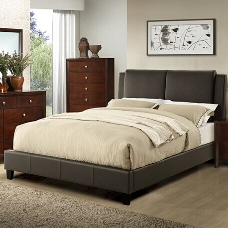 Seth Queen Upholstered Platform Bed by Charlton Home