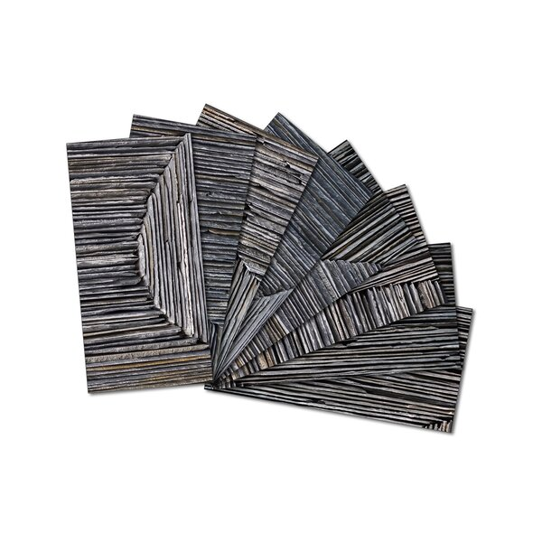 3 x 6 Beveled Glass Subway Tile in Dark Gray by Upscale Designs by EMA