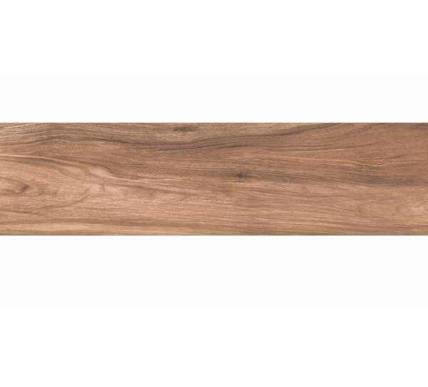 Deck 12 x 48 Porcelain Wood Look/Field Tile in Matte Brown by Tesoro