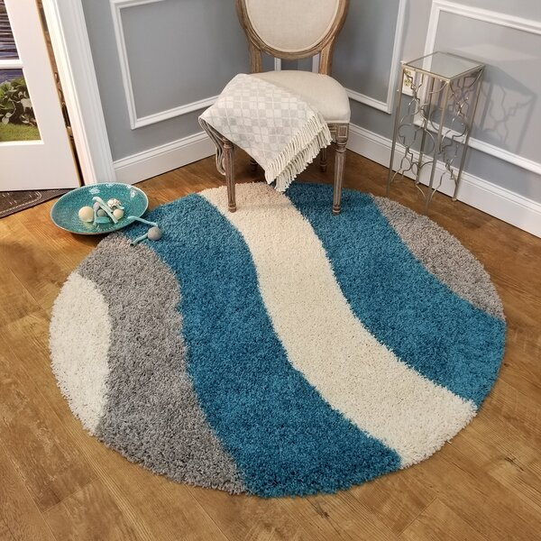 Burns Striped Gray/Blue Area Rug by Zipcode Design