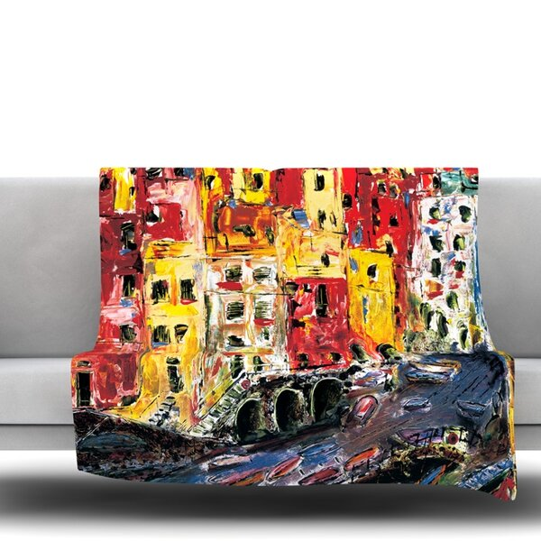 Cinque Terre by Josh Serafin Fleece Blanket by East Urban Home
