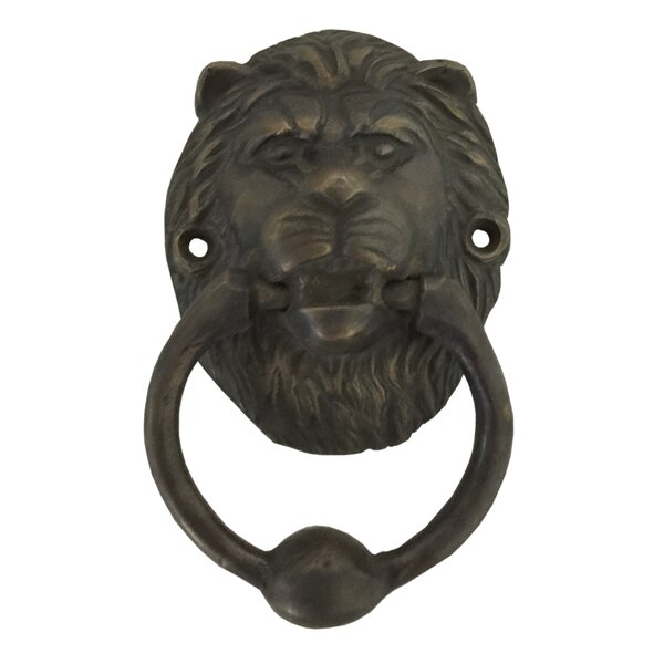 Lion Head Brass Door Knocker or Puller by D-Art Collection