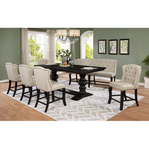 Rudden 7 Piece Counter Height Extendable Dining Set by Canora Grey Canora Grey