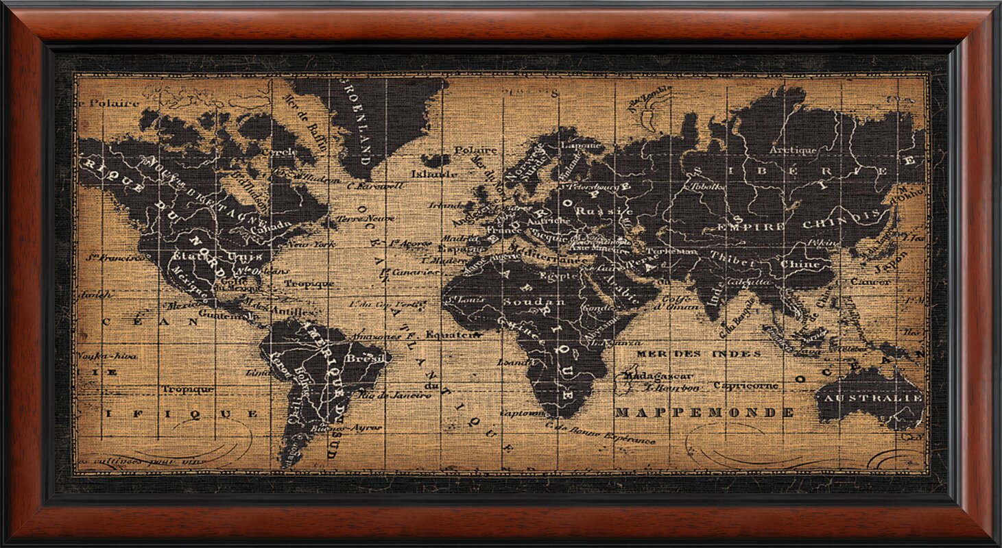 Famous old world map framed pictures image collection picture darby home co old world map framed graphic art reviews wayfair gumiabroncs Images