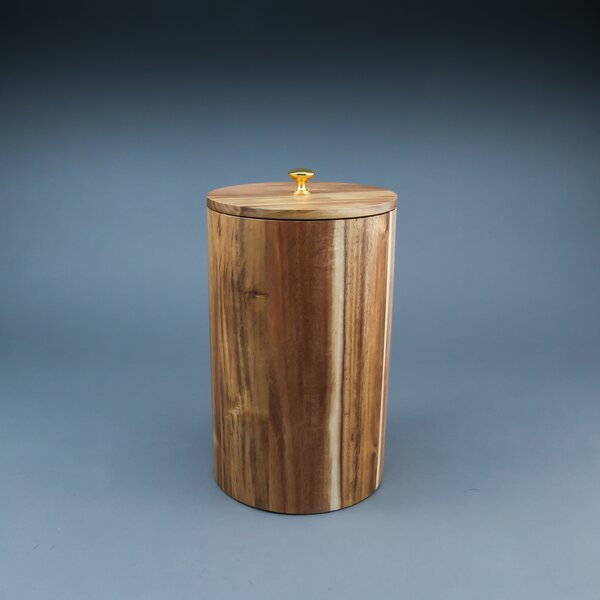 Everson Acacia Wood 4.75 qt. Kitchen Canister with Copper Knob by Mint Pantry