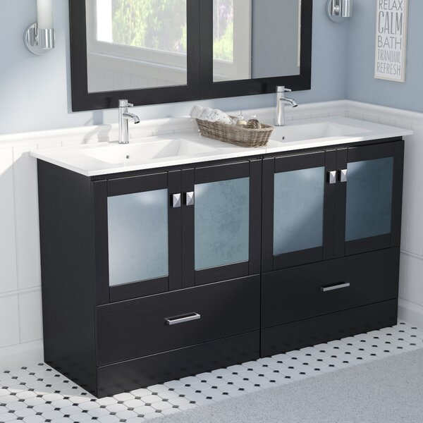 Lapoint Modern 60 Double Bathroom Vanity Set by Latitude Run