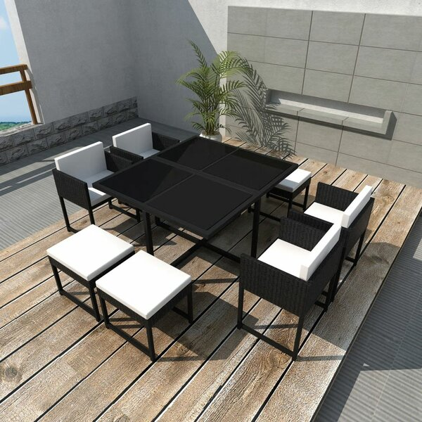 Totnes Outdoor 9 Piece Dining Set with Cushions by Ivy Bronx