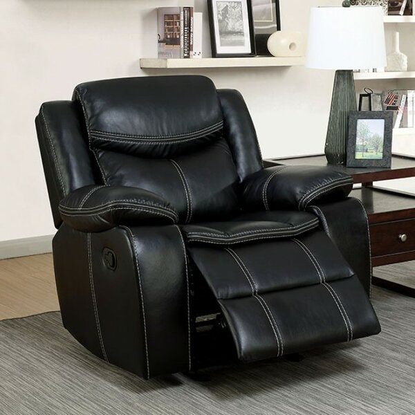 Roddy Transitional Leather Manual Rocker Recliner by Latitude Run