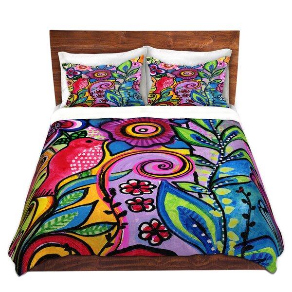 Color Floral Duvet Cover Set