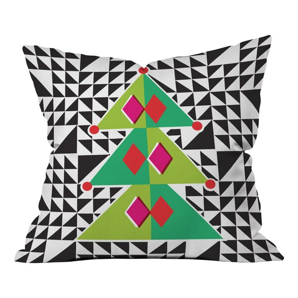 Zoe Wodarz Geo Pop Tree Throw Pillow by Deny Designs