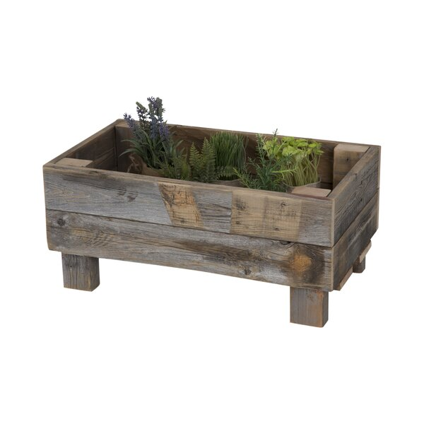 Reclaimed Wood Planter Box by Del Hutson Designs