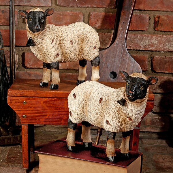 Hernadez Polystone Sheep 2 Piece Figurine Set (Set of 2) by August Grove