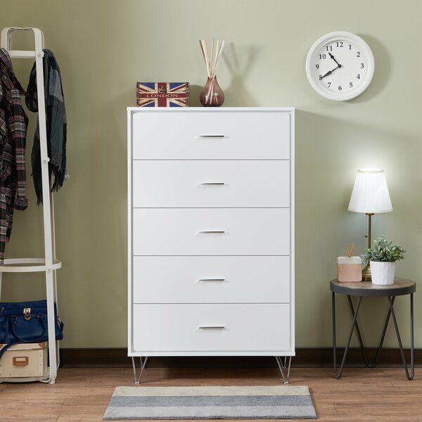 Neodesha 5 Drawer Chest by Ebern Designs