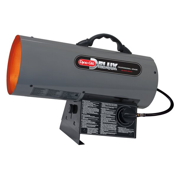 40,000 BTU Portable Propane Forced Air Utility Heater With Continuous Electronic Ignition By Dyna-Glo