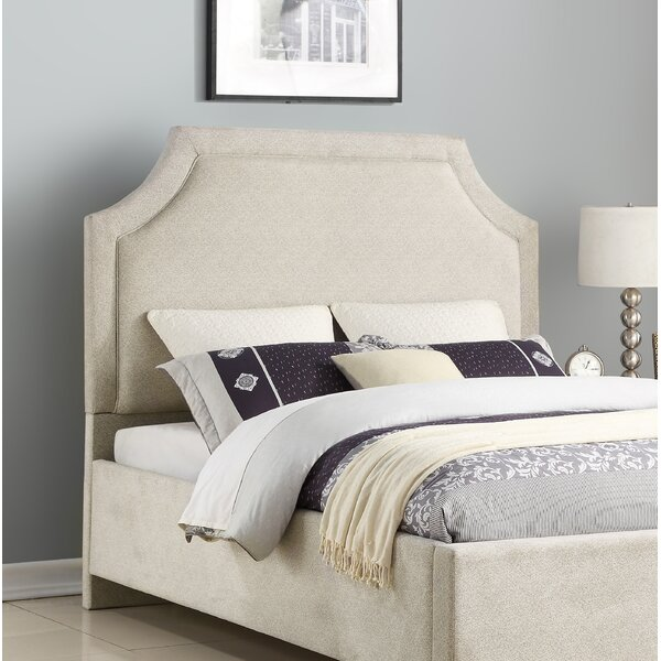 Anabelle Clip Corner Upholstered Panel Headboard by Everly Quinn