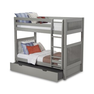 Read Reviews Oakwood Twin over Twin Bunk Bed with Trundle ByHarriet Bee
