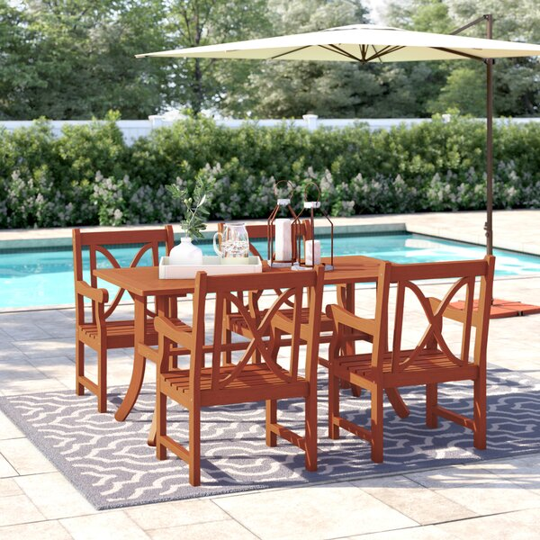 Hershman 5 Piece Dining Set by Sol 72 Outdoor