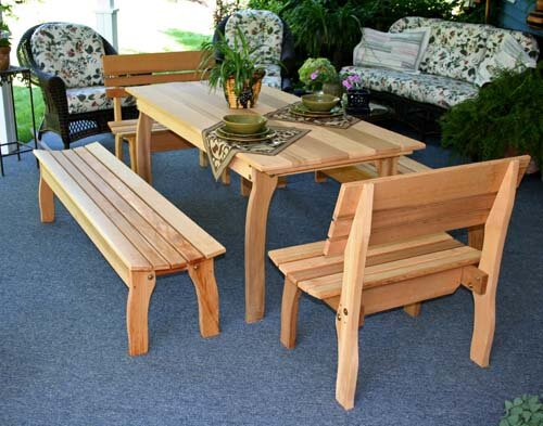 Cedar Gathering Dining Set by Creekvine Designs
