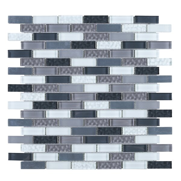 1 x 2 Glass Tile in Gray/Blue by Multile
